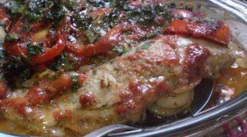 file de peixe ao forno