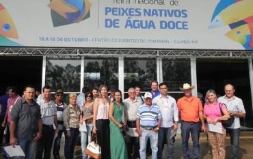 Piscicultores de Juara participaram da Feira Nacional do Peixe Nativo