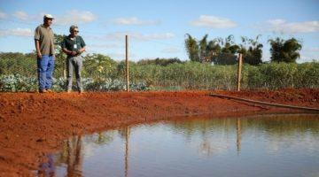 Tanques lonados para armazenar água são alternativas para a agricultura familiar do DF