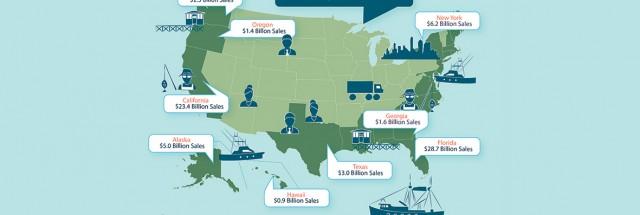 Pescado nos EUA movimentou US$ 208 bilhões em 2016; gestão de estoques pesqueiros mostra bom resultados